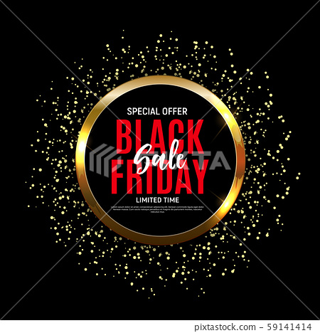Black Friday Sale Banner Template. Vector 59141414