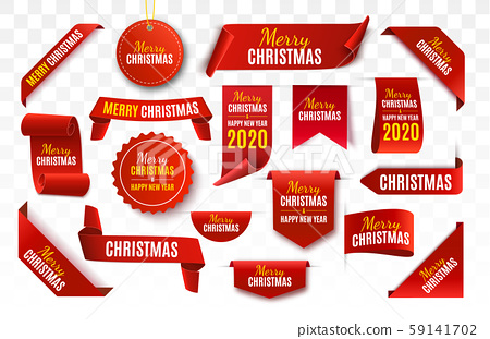 Merry Christmas Tag isolated. Vector  59141702
