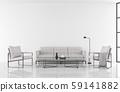 Minimal style modern white living room 3d render 59141882