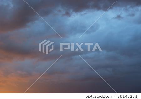 Amazing dramatic dark gray sky after storm