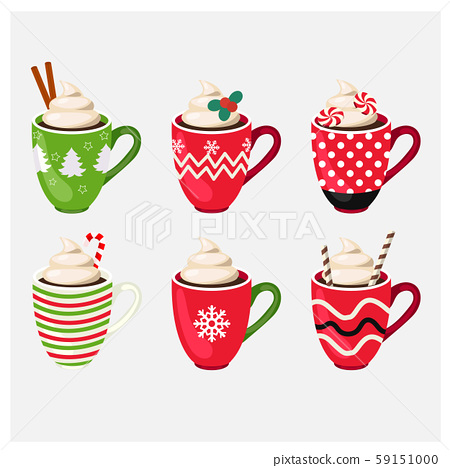 Set of winter holiday Christmas cup with hot 59151000
