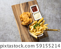 Traditional British Fish and Chips with french 59155214