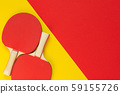 Red tennis ping pong rackets 59155726