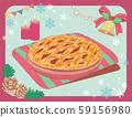 圣诞糖果。浆果派和蜡烛。手写风格 59156980
