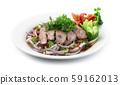 Spicy Grilled Pork Slices Salad in Pickled Fish 59162013