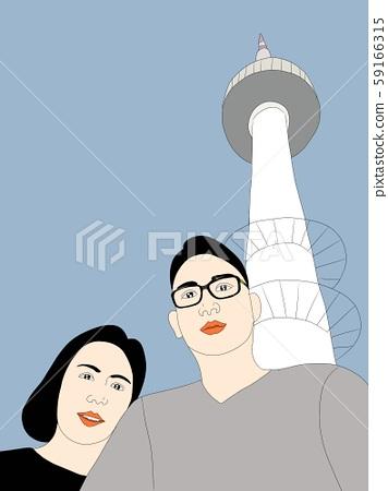 서울타워 남산타워 셀카촬영 59166315