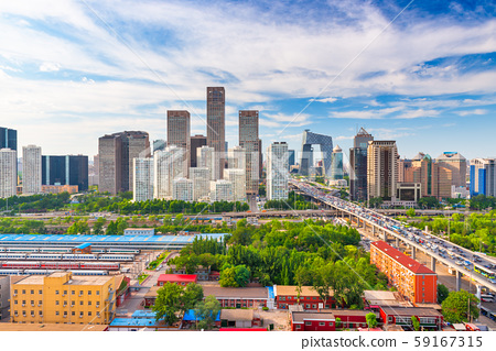 Beijing, China modern financial district skyline 59167315