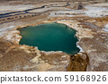 Hot spring with bright colors in the desert 59168926