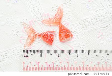 Mermaid tail glitter resin keychain charms 59170914