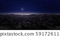 鮮豔細緻的星空夜景全景背景(高分辨率 3D CG 渲染∕著色插圖) 59172611