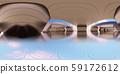 鮮豔細緻的幾何金屬隧道全景背景(高分辨率 3D CG 渲染∕著色插圖) 59172612