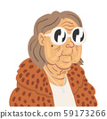 Fashion Senior Woman, Elegant Old Lady Character Wearing Trendy Clothes Vector Illustration 59173266