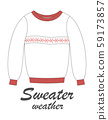 greeting card with sweater 59173857
