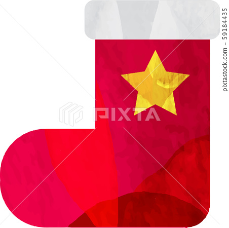 Boots_stars_illustration_vector_christmas_ornaments_cutting樣式 59184435