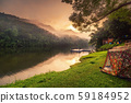 Beautiful Natural Scenic of National Park and Riverside Camping at Sunrise 59184952