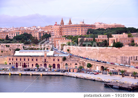 Republic of Malta, Valletta Port, Fort City Valletta, city view from early morning on board 59185930