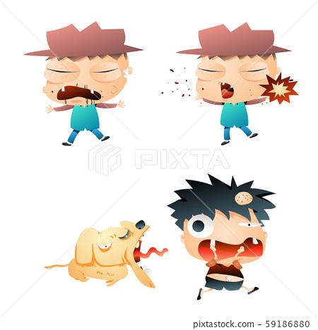 Gradient Comic Characters 59186880
