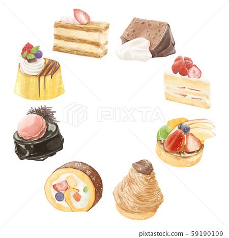 糕點甜點蛋糕圖 59190109