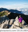 Hiker do trekking activity on mountain in Japan. 59191989