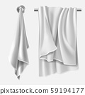 Towel mockup, textile blank folded wiper sheet 59194177