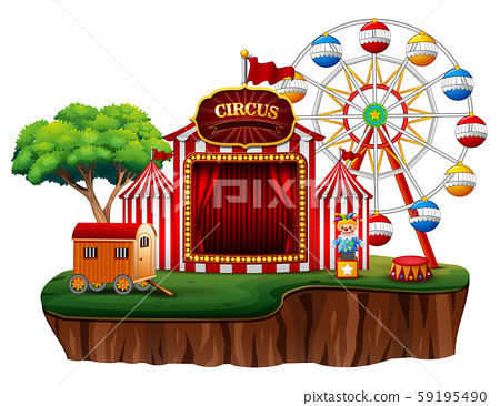 Empty fun fair amusement park circus 59195490