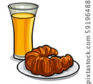 juice and croissant 59196488