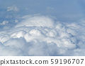 Dense clouds. View from aircraft 59196707