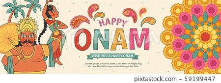 Happy Onam lovely banner 59199447