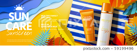 Sunscreen product ads 59199496