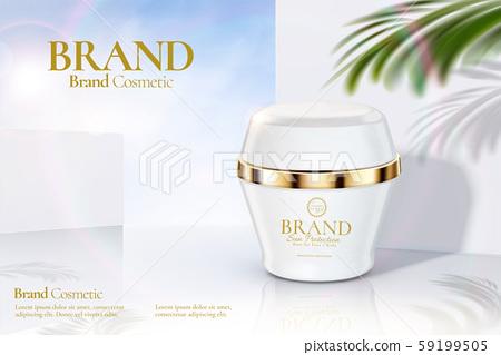 Cosmetic cream jar ads 59199505