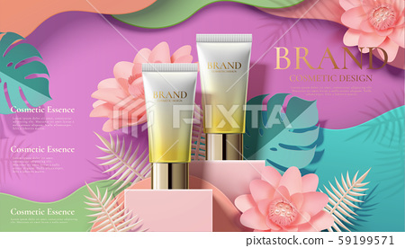 Cosmetic tube ads with flowers 59199571