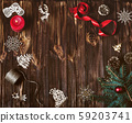 Christmas decoration background with copy space. 59203741