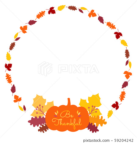 Thanksgiving banner card frame template with crops element and copy space 59204242