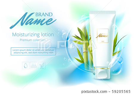 Advertising poster for cosmetic product for catalog, magazine. Vector design of cosmetic package 59205565