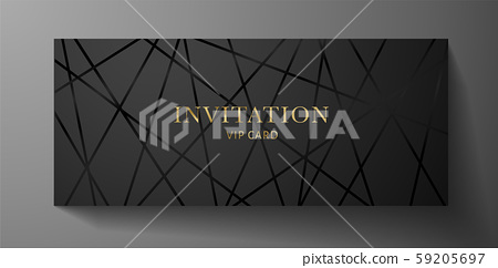 Luxurious VIP Invitation template with black... - Stock ...