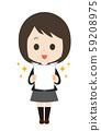 女學生考試歡喜 59208975