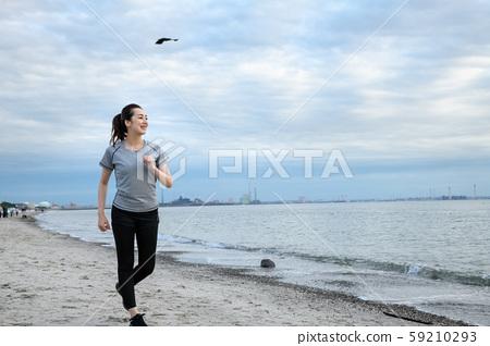 여성 스포츠 조깅 달리기 59210293