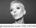 black and white portrait of beauty adult age woman 59210548