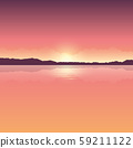 romantic orange sunset ocean landscape 59211122