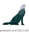 wildlife wolf green forest landscape silhouette 59211130
