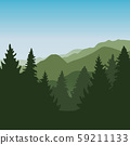green forest mountain landscape background 59211133