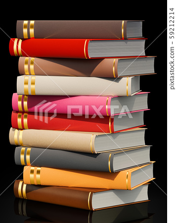 Stack of books, 3D rendering 59212214