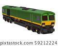 Electric locomotive, 3D rendering 59212224