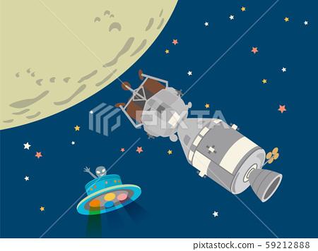 우주선 아폴로 11 호의 달 탐사. 하면 UFO. 59212888