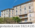 Bastia residential architecture. Corsica island, 59214195