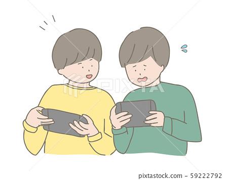 男孩一起玩遊戲 59222792