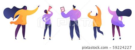 Marketing business flat vector illustrations set 59224227