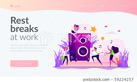 Office fun landing page template 59224257