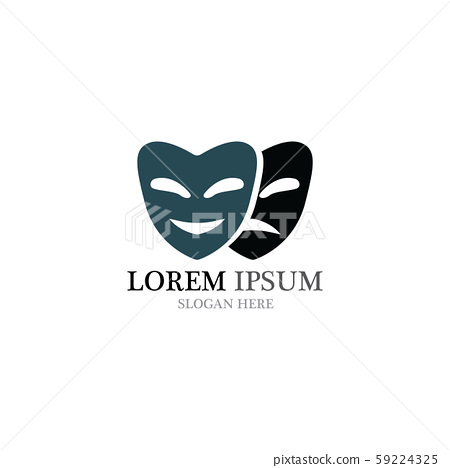 Theater mask logo and symbol vectors 59224325