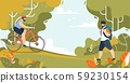 Sportive Men and Outdoors Activities on Nature 59230154